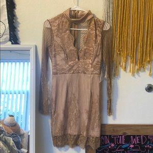 ASOS Love Triangle Lace Front Mini Dress w Choker